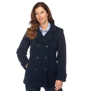 🌊 🛥 🆕LL Bean Pea Coat Jacket Thinsulate SZ 12P